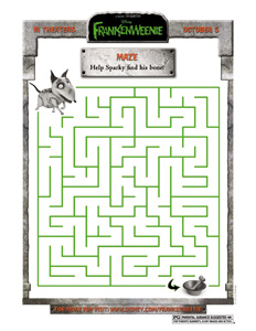 Disney's FRANKENWEENIE – Family Activity Sheets   A Look ...